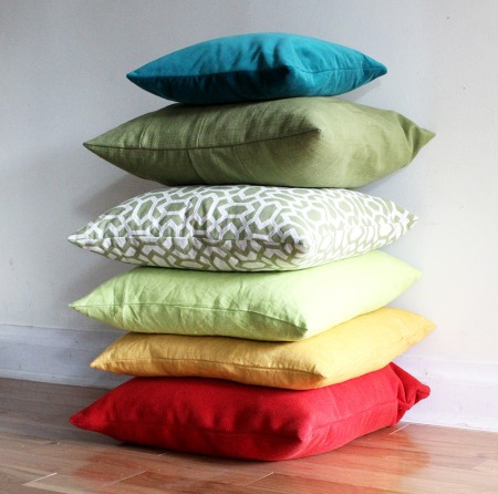 giant pillow stack